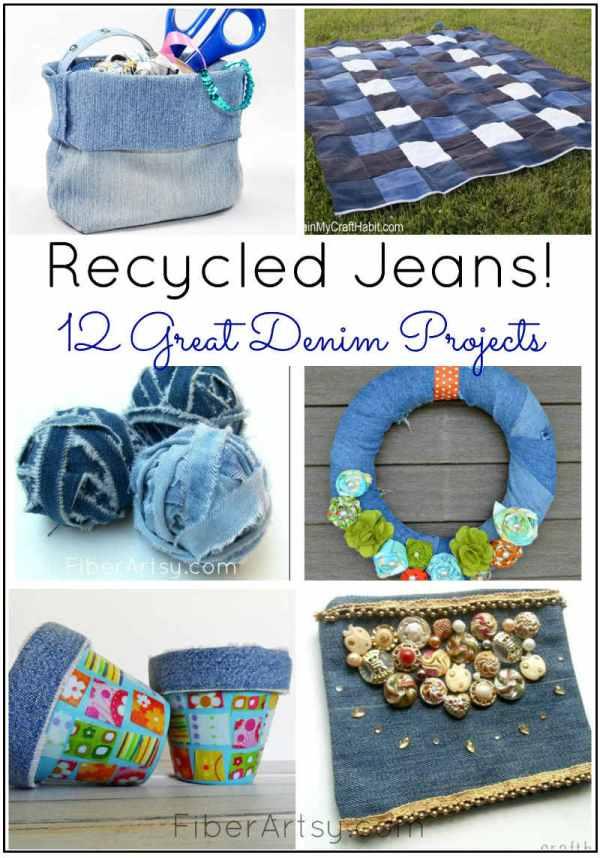 Recycled Denim Jean Projects, a FiberArtsy.com tutorial