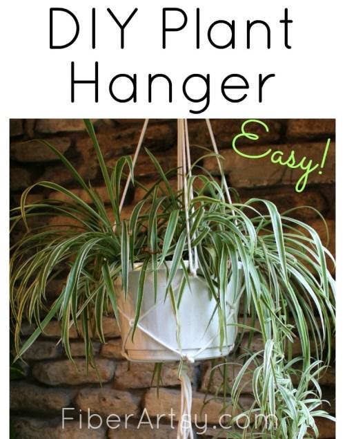 DIY Plant Hanger, a FiberArtsy.com tutorial