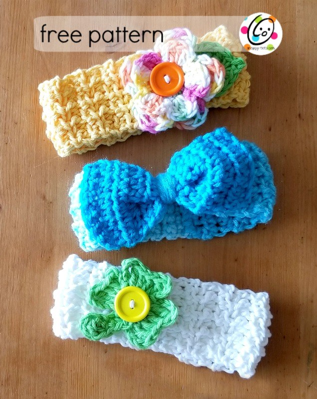 Baby Lucy Crochet Headbands Fiberartsy