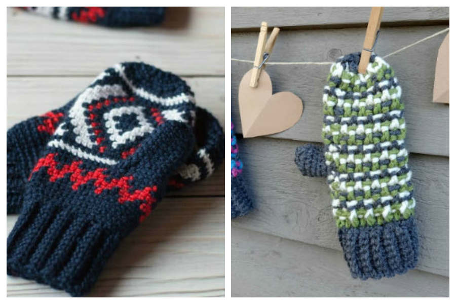11 Free Patterns For Crochet Mittens Fiberartsy