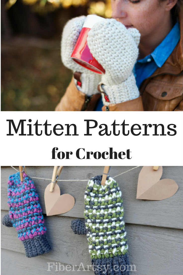 11 Free Crochet Patterns for Mittens