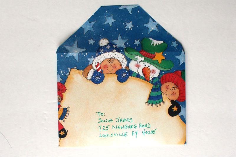 DIY Christmas Card Envelope from scrap book paper