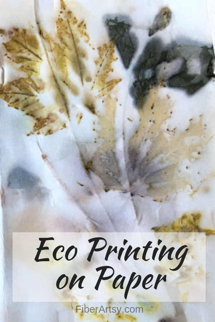 How to Eco Print on Paper. Step by step tutorial shows you the basics of Leaf and flower eco printing which can be done on paper or fabric