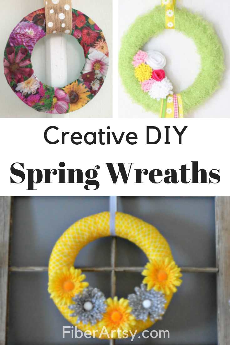 Handmade and DIY Wreath Ideas for Spring or Easter
