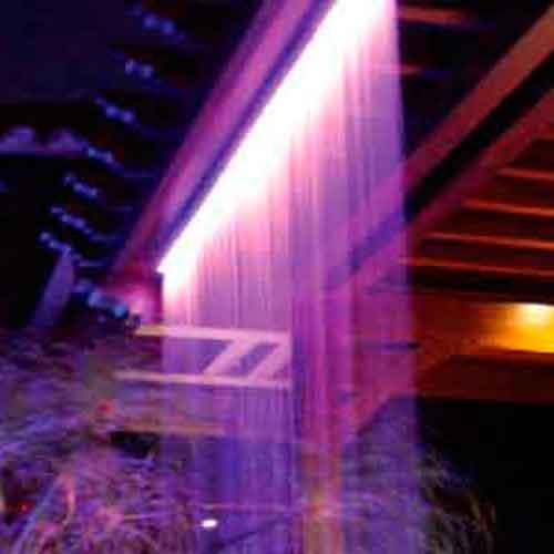fiber optic rain curtain waterfall