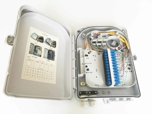 small resolution of 24 cores ftth fiber optic outdoor distribution box ip55 wall mount type and pole