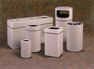 Fiberglass Trash Receptacles Grouping Picture