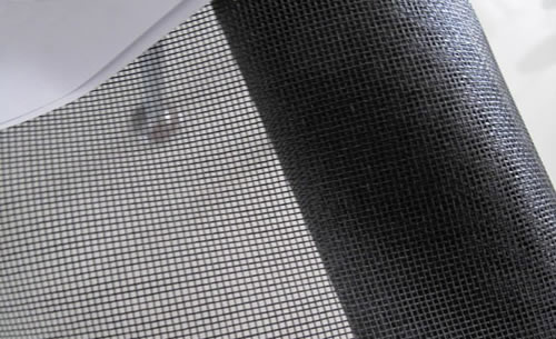 Charcoal Fiberglass Screening Fabric Used as Retractable