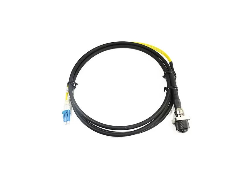 SM / MM Fiber MPO MTP Patch Cord High Flexibility With DLC