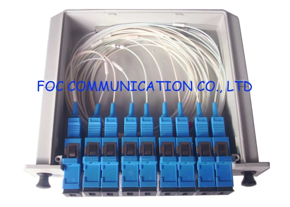 medium resolution of sc upc fiber optic splitter cassette box 1 8 passive optical splitter low pdl