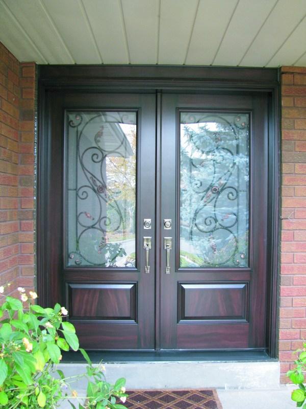 Fiberglass Entrance Doors with Glass