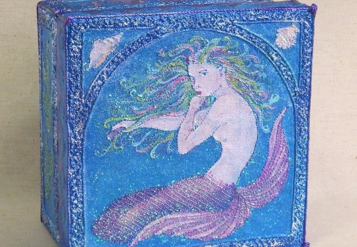 """Blue Mermaid Treasure Box"""