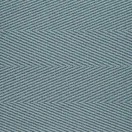 Cotton Herringbone Border Azure