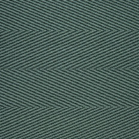 Cotton Herringbone Border Jade