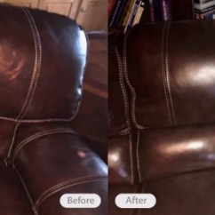 Brown Leather Sofa Color Restoration King Size Sleeper Bed Photo Fibrenew East Louisville