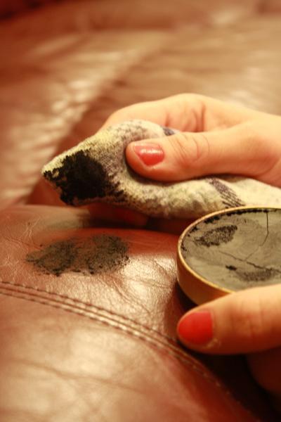 Do not use shoe polish on leather upholstery  Fibrenew