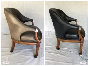 leather seat repaired