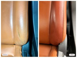automotive seat restored