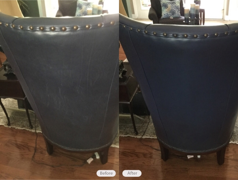 leather chair repair swivel rocking with ottoman photo in oceanway fibrenew north