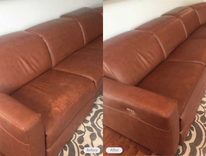 brown leather sofa color restoration real click clack bed photo sectional in valrico florida