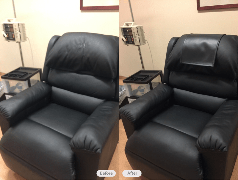 chair headrest cover design line photo vinyl medical added to make the look great again for patients in brandon florida