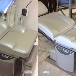 Leather Or Fabric Sofa For Dogs Good Bad Photo: Medical Examination Chair Repair - Fibrenew Folsom