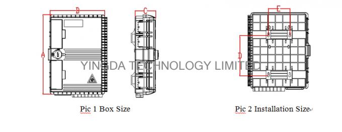 24 Fibers Fibre Termination Box Pole Mounting Fiber Optic