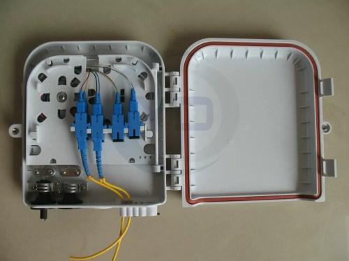small resolution of plastic 1x8 plc fiber optic splitter box wall mount fiber optic termination box fdb0208