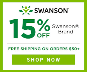 Swanson's Vitamins Save 15%