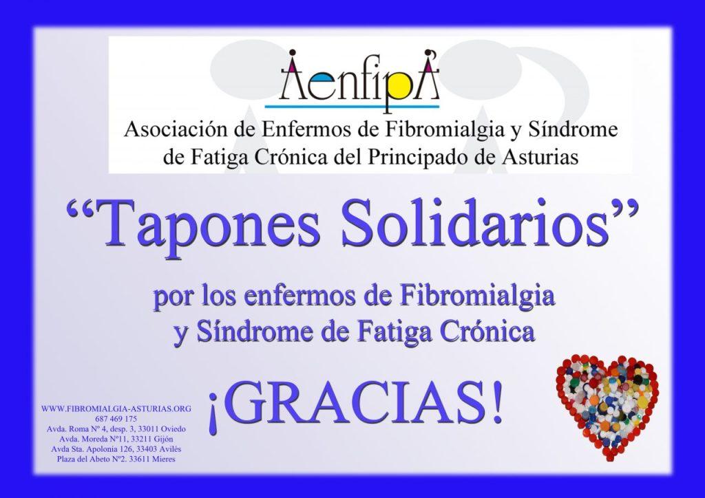 Tapones solidarios por la Fibromialgia y Síndrome de Fatiga Crónica