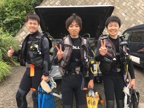 大島でオープンウォーター