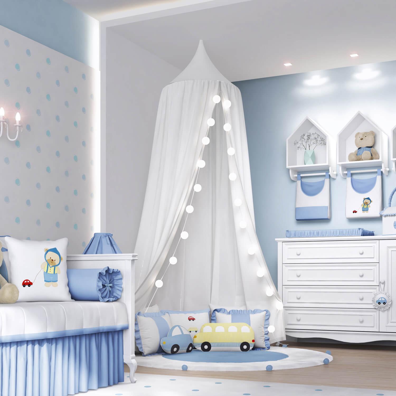 Tenda dossel  tendncia no quarto de beb