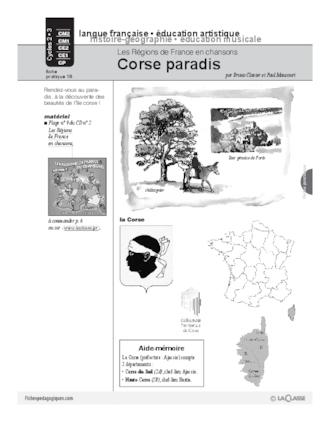 Les régions de France en chansons / La Corse (Cycle 3