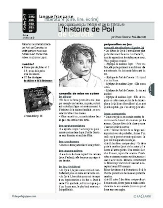 L'histoire de Poil de Carotte (Théâtre) (Cycle 2