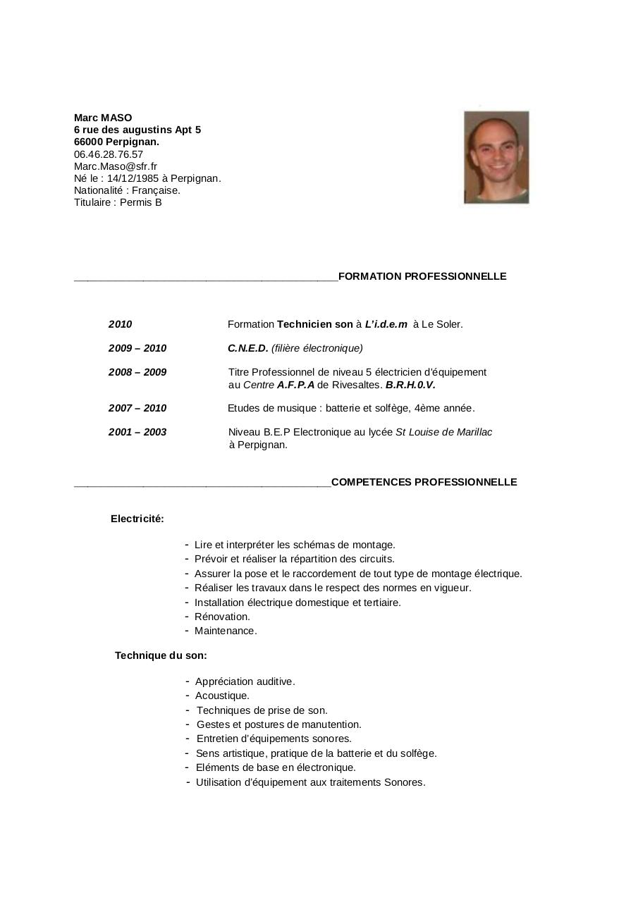 Exemple Cv Manutentionnaire Gratuit All New Resume