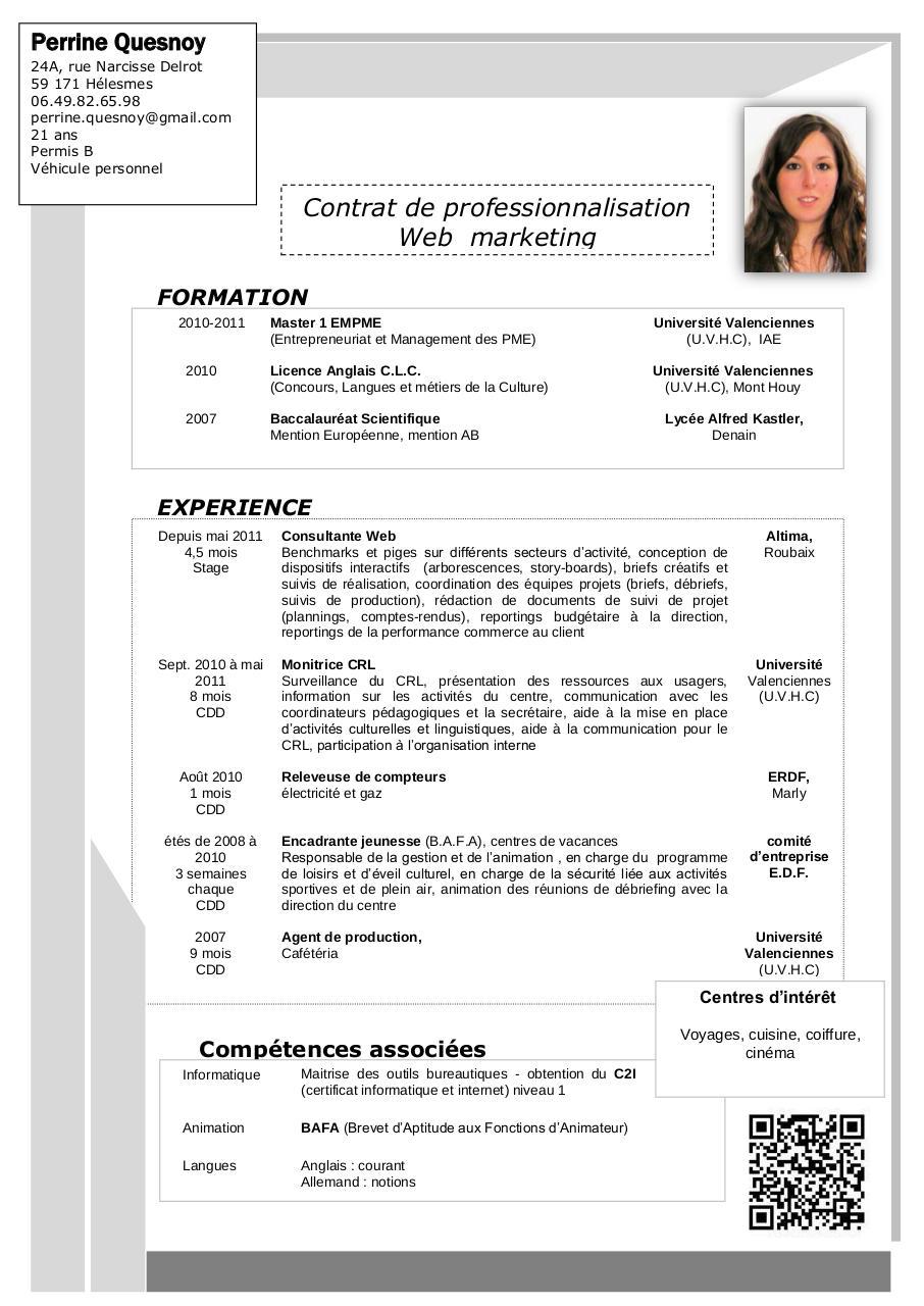 cv agent de production competences