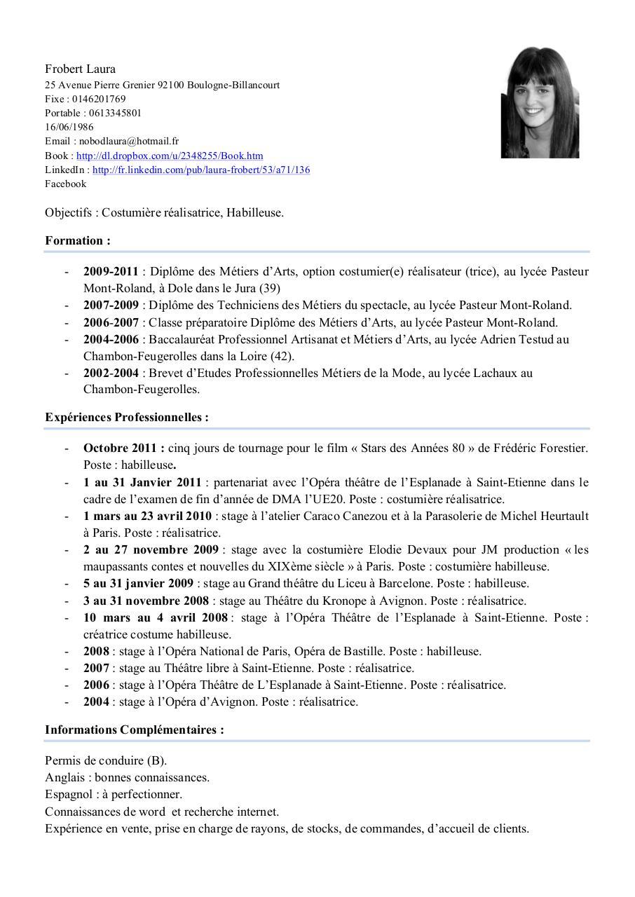 fichier pdf pour cv