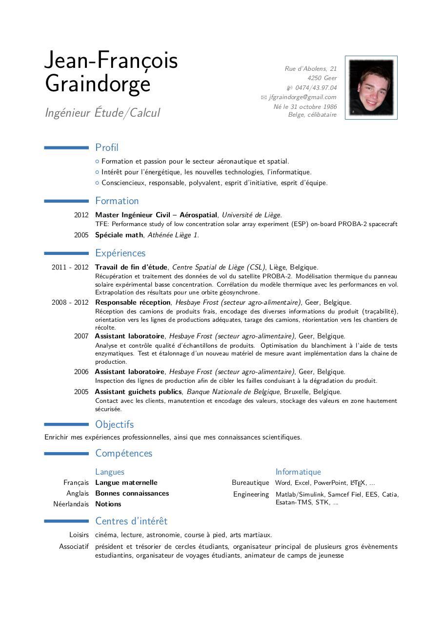 Cv Anglais Internship