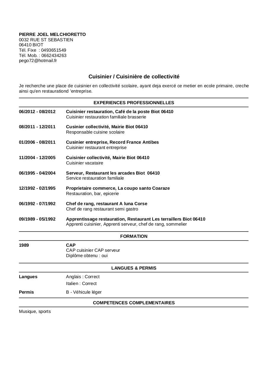 faire un cv en anglais pdf