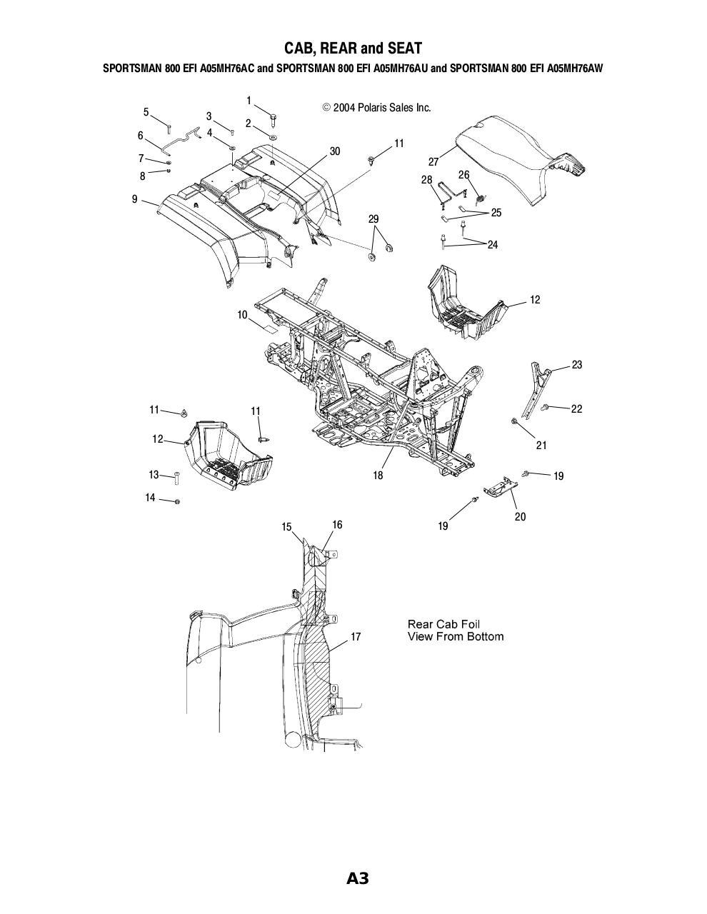 2006 Polaris Sportsman 800 Wiring Diagram. Engine. Wiring
