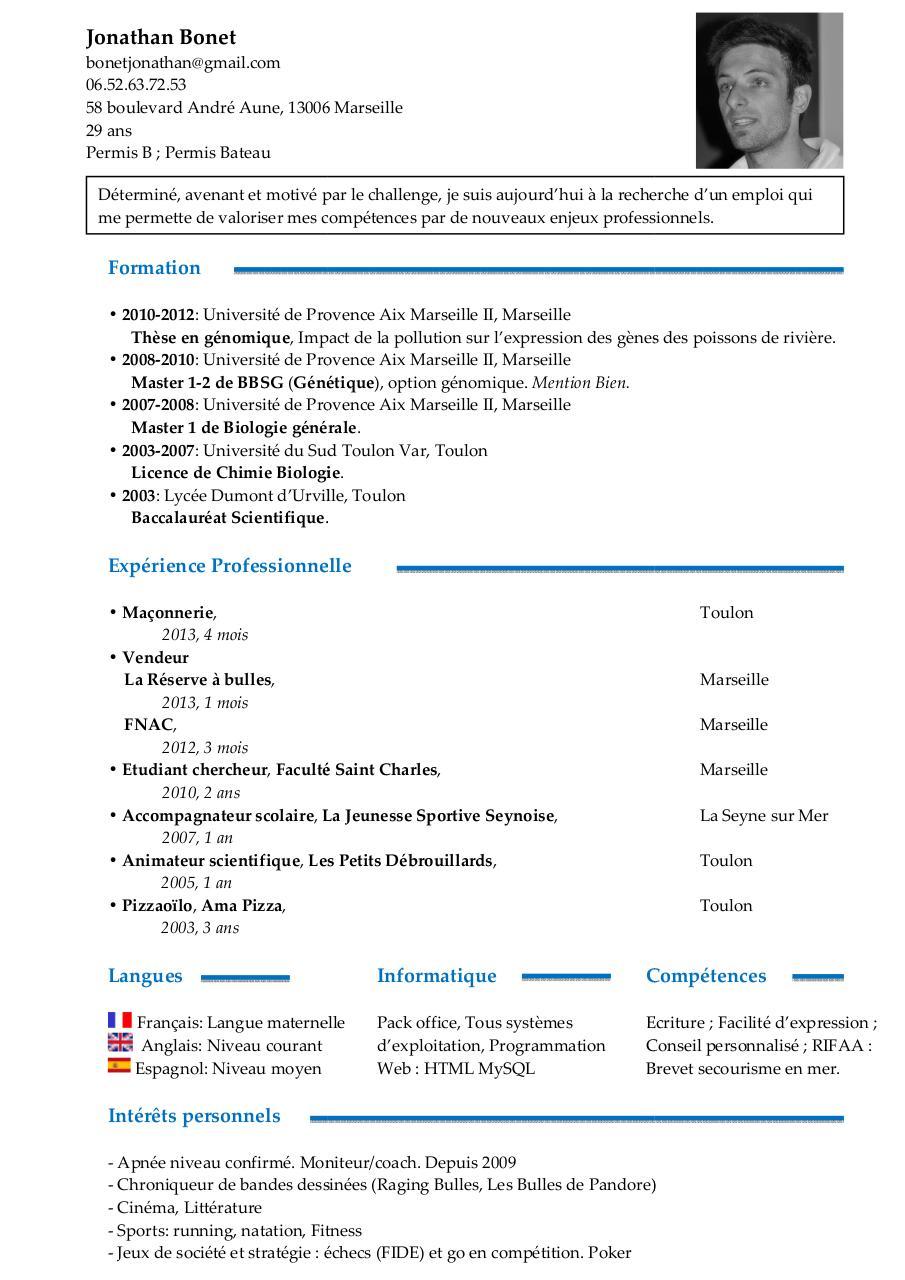 langues sur cv en anglais