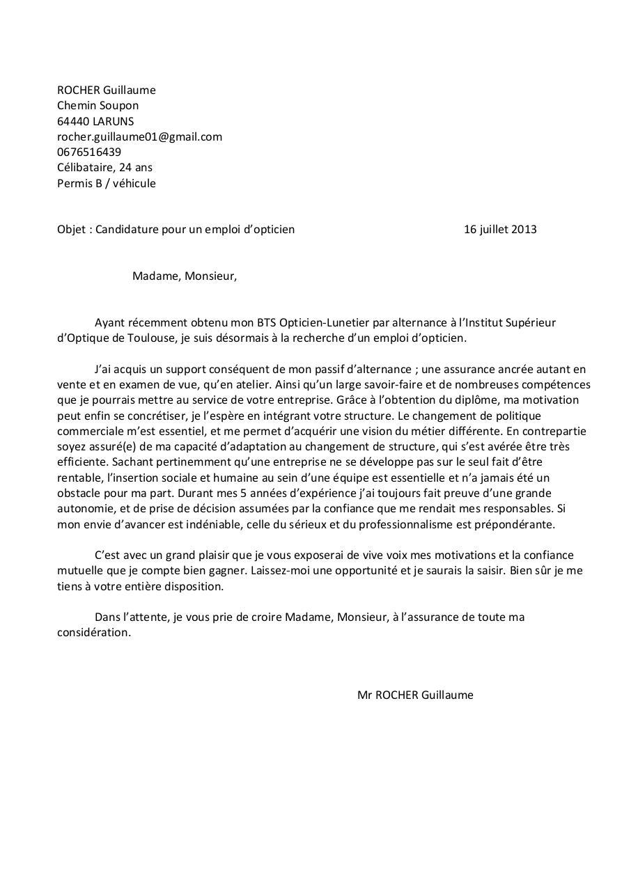 lettre de motivation et cv anglais