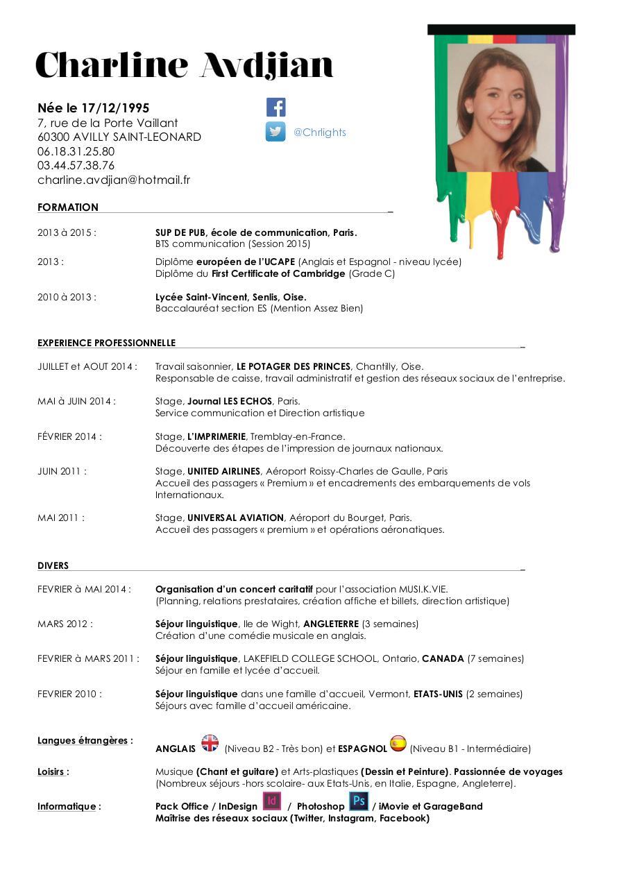 cv html en pdf