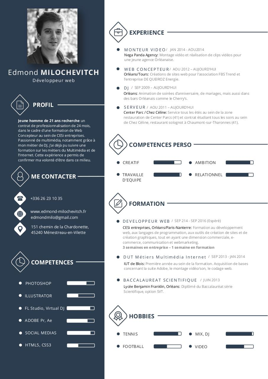 Milo CV Par CodePower Fichier PDF