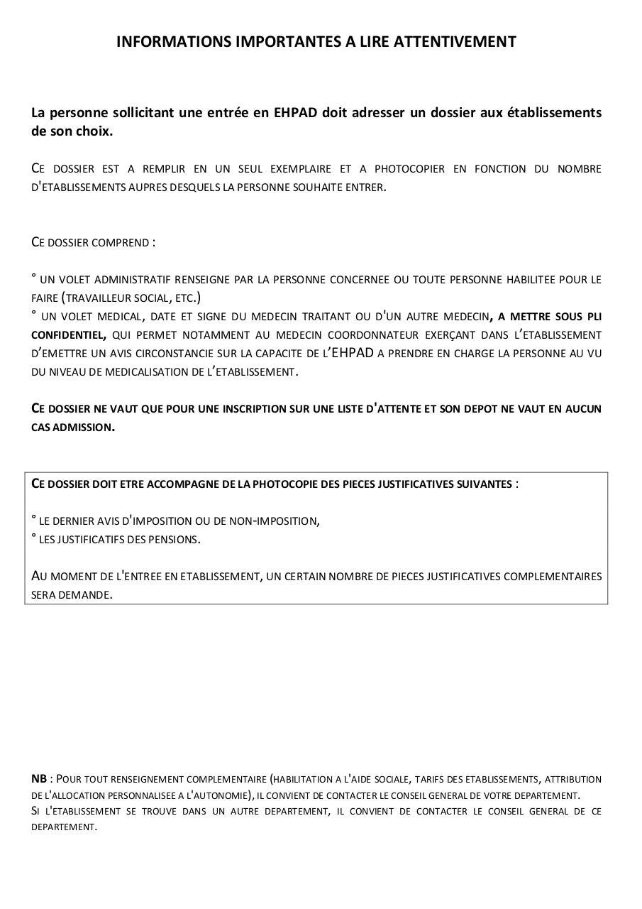 Annexe arrt  publier dossierunique par cbussiere  dossier unique EHPAD cerfa 14732 01 pdf
