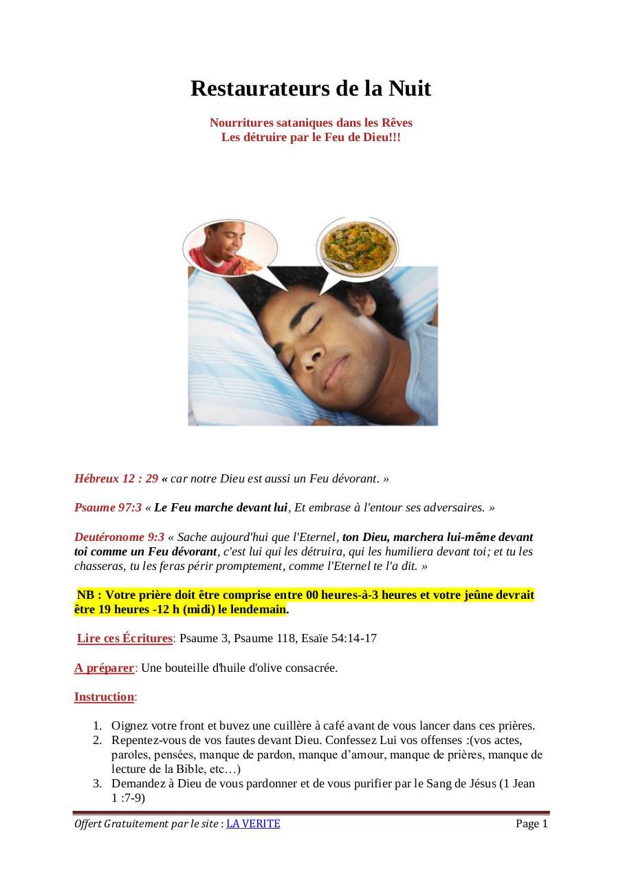 Restaurateurs de la Nuit par Danielle Fichier PDF