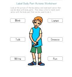 aper u du document label body part actions worksheet pdf page [ 768 x 1024 Pixel ]