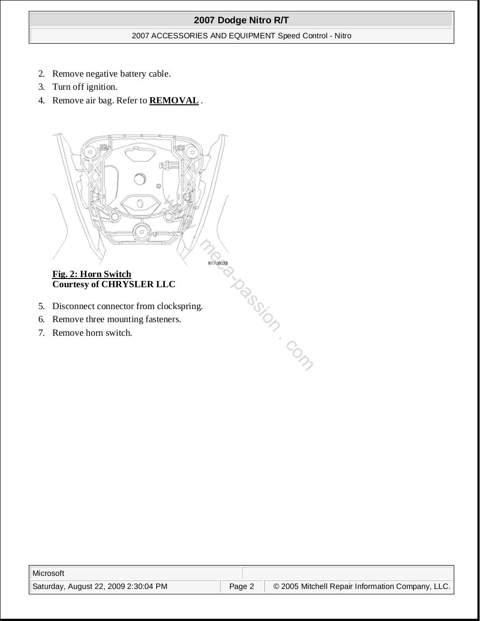 hight resolution of cd manuel atelier dodge nitro extra pdf page 2