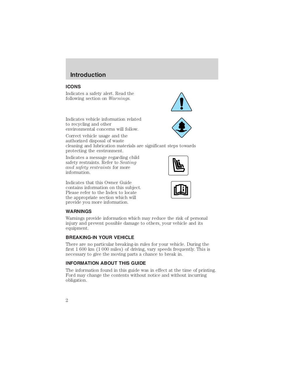 hight resolution of ford f53 1999 chassis owner manual pdf page 2 96