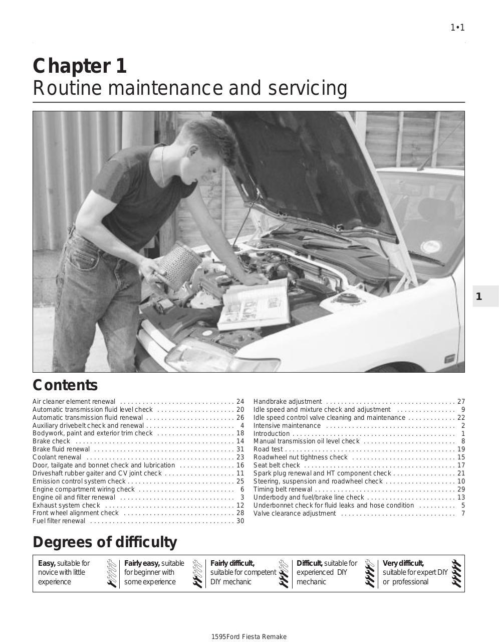 Workshop Manual Ford Fiesta